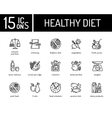 Healthy diet icons vector image vector image