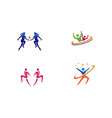 healthy life logo template icons vector image