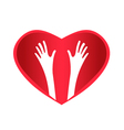 Helping Hands Heart vector image