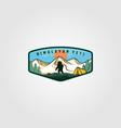 himalayan yeti vintage adventure outdoor logo vector image