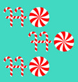 ho text lettering banner candy cane merry vector image