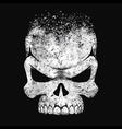Human skull black and white vector image vector image