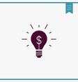 idea bulb icon simple vector image vector image