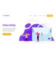 internship job concept vector image