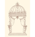 Ivy-covered Wedding Gazebo vector image