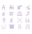 knitting line icon set vector image