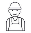 laborworkerbuilder line icon sign vector image vector image