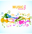 light musical poster vector image vector image