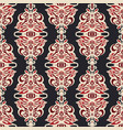 luxury damask seamless floral motif pattern vector image vector image