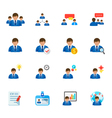 Management and Human Resource Icons vector image vector image
