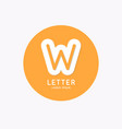 modern linear logo and sign letter w vector image vector image