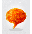 Orange social bubble shape vector image vector image