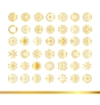 Oriental gold pattern Golden snowflakes set vector image vector image