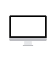 PC black and white icon over white vector image