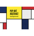 Pop art geometry mondrian style line back