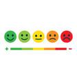rating feedback scale emotion rating feedback vector image vector image