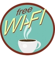 Retro wi-fi icon vector image