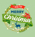 ribbon for merry christmas and 2018 new year vector image