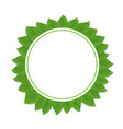 round green frame with leaves vector image vector image
