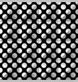 seamless white polka dot pattern on black vector image