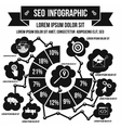 Seo infographic simple style vector image