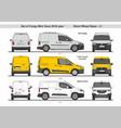set cargo mini vans swb l1 2018 vector image vector image