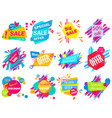 set modern bright different colored sale vector image
