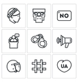 Set of Feminism and Womens Rights Icons vector image vector image