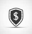 shield with a shield and a dollar sign vector image vector image