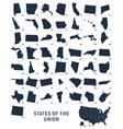 simplified state shapes usa 50