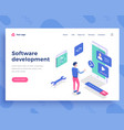 software development concept office woman and vector image