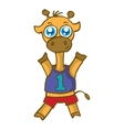 Sport giraffe cartoon design for kids vector image
