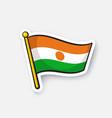 sticker national flag niger vector image vector image