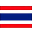 thai flag vector image