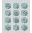vintage round icons vector image vector image