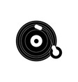 vinyl lp record melody sound music silhouette vector image
