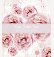 watercolor pink roses background beautiful vector image vector image