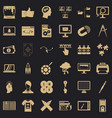 web marketing icons set simple style vector image vector image