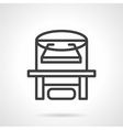 X-ray device line icon vector image vector image