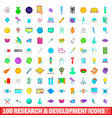 100 development icons set cartoon style vector image vector image