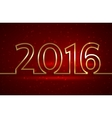 2016 new year greeting red vector image vector image