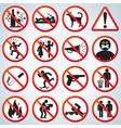 funny forbidden icons set