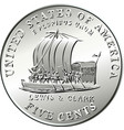 american coin lewis and clark five cents vector image vector image