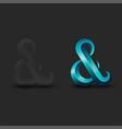 ampersand logo aquamarine latin calligraphy vector image