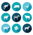 Animals of the Australian continent icons set vector image vector image