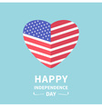 Big flag heart Independence day 4 July vector image