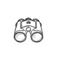 binoculars hand drawn outline doodle icon vector image vector image