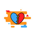 broken heart icon trendy modern concept of vector image