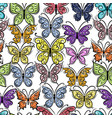 butterflies ornate seamless pattern for your vector image vector image