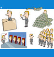 cartoon business concepts and characters set vector image vector image